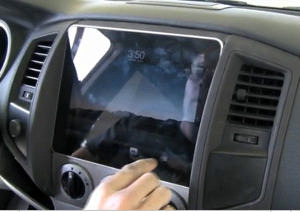 first ipad integration into a car stereo road reality. Black Bedroom Furniture Sets. Home Design Ideas